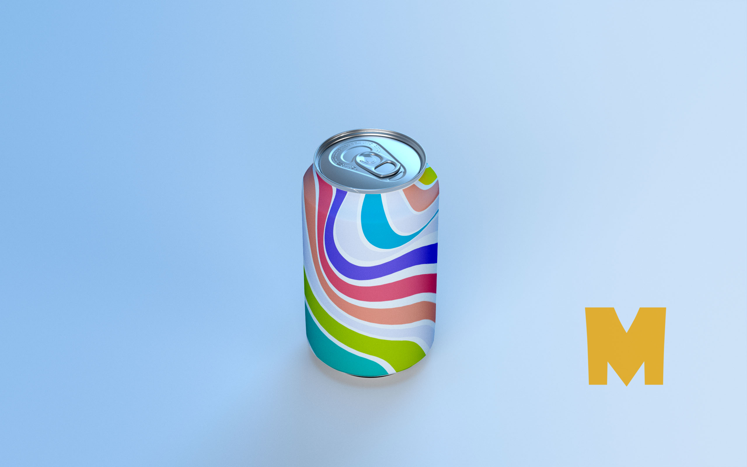 Free Soda Can Design Mockup