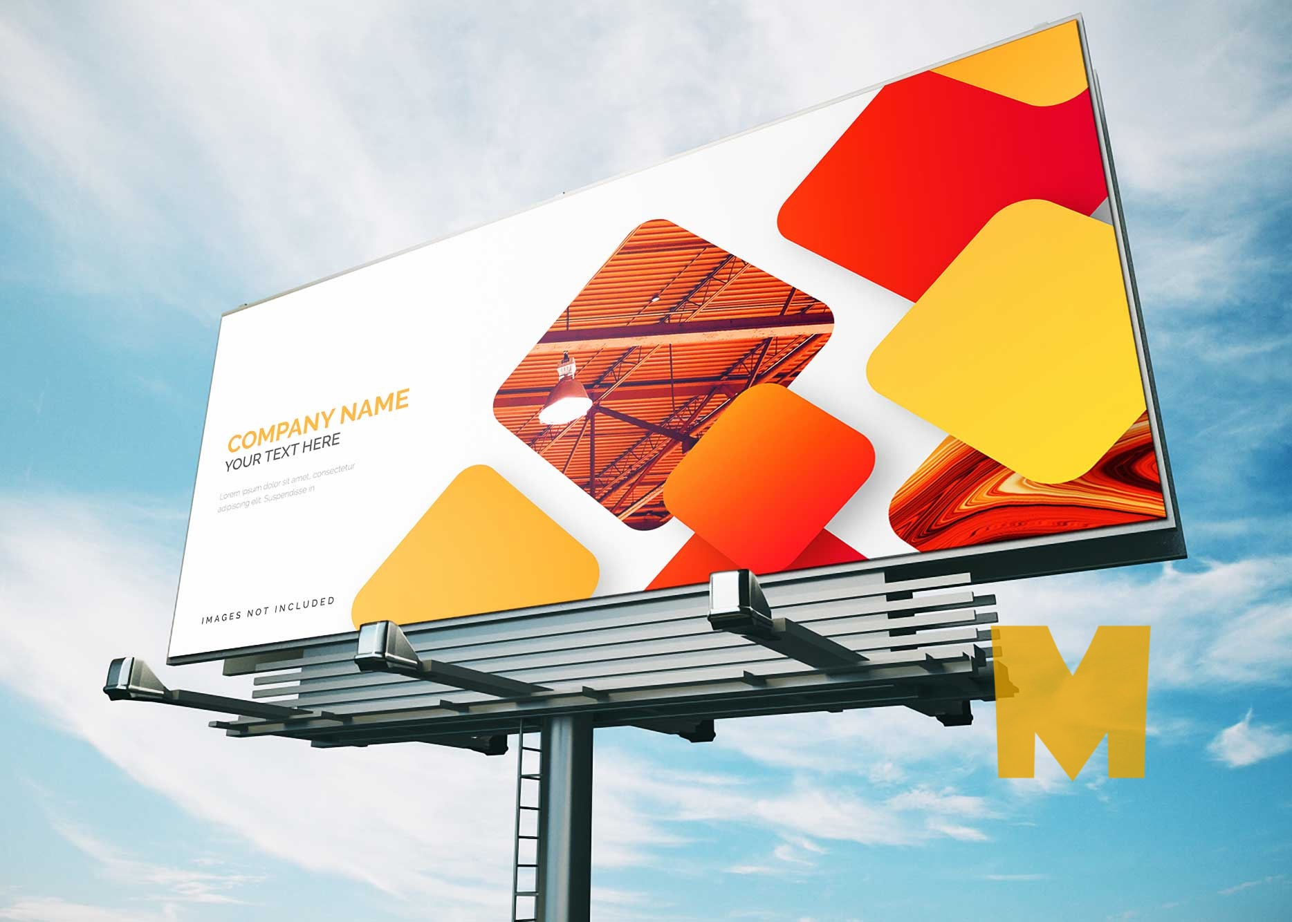 FreFree Street Sun Light Billboard Mockupe Street Sun Light Billboard Mockup