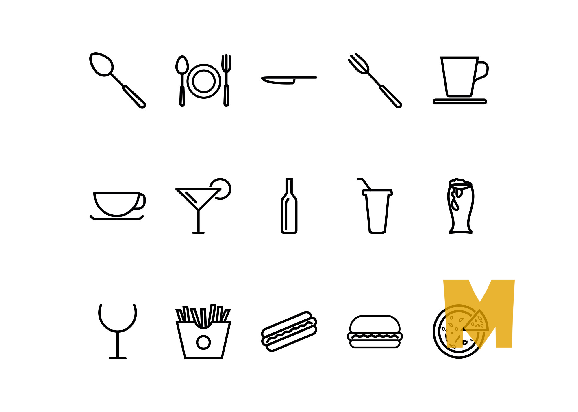Summer Food & Drinks Icon Sets