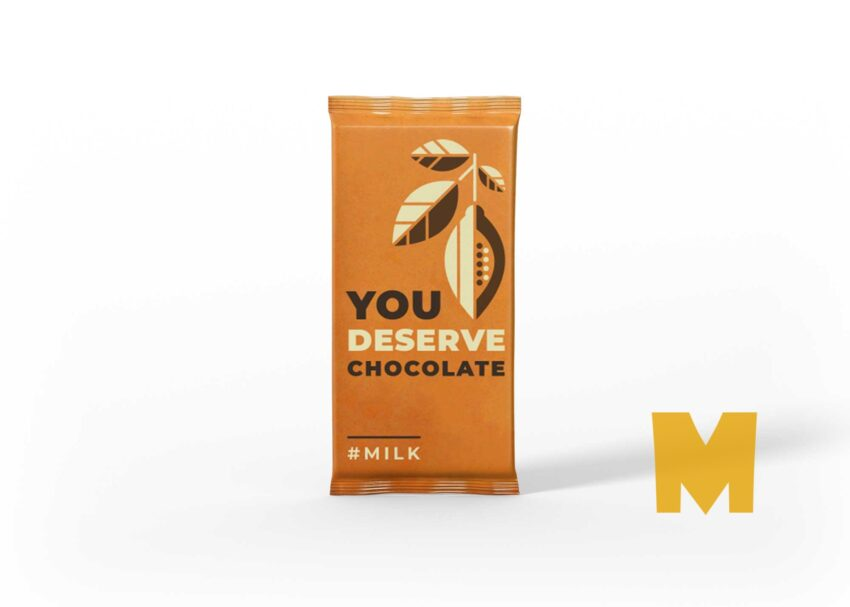 Wafer Crackers Chocolate Packaging Mockup