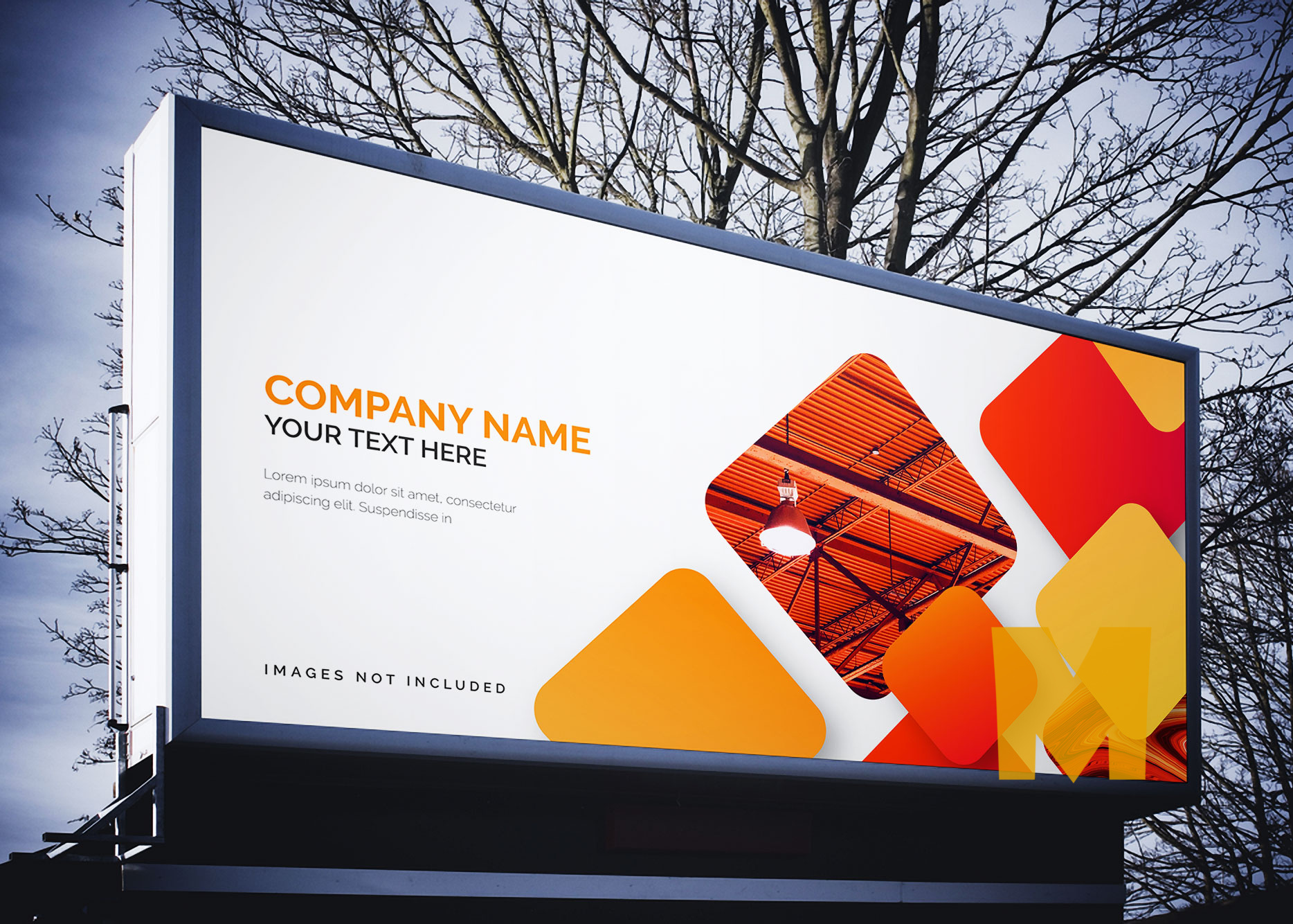 Evening Billboard Mockup