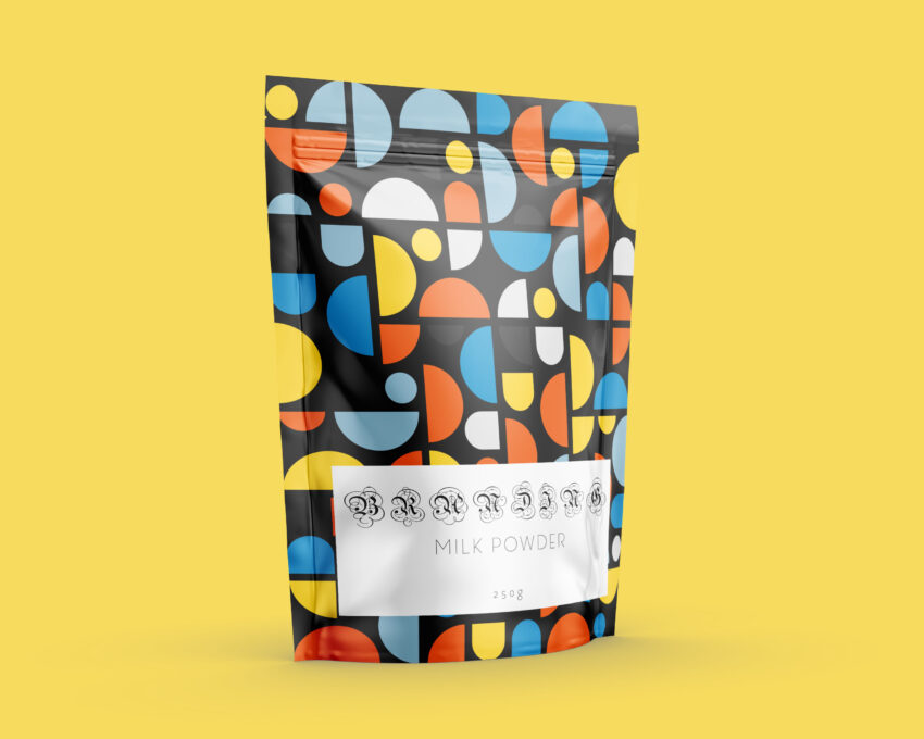 Beautiful Pouch Label Mock-Up