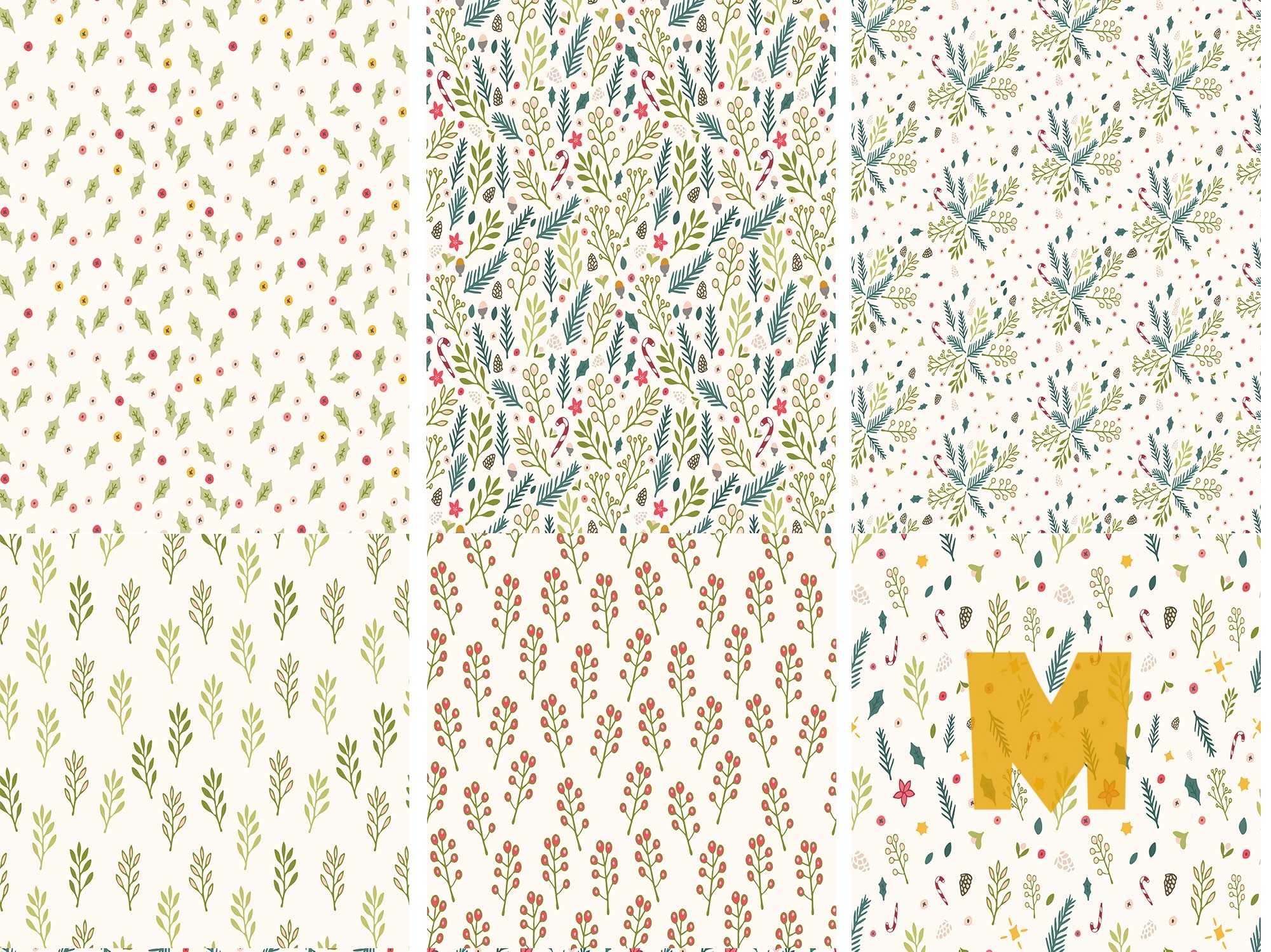 Winter Floral Patterns