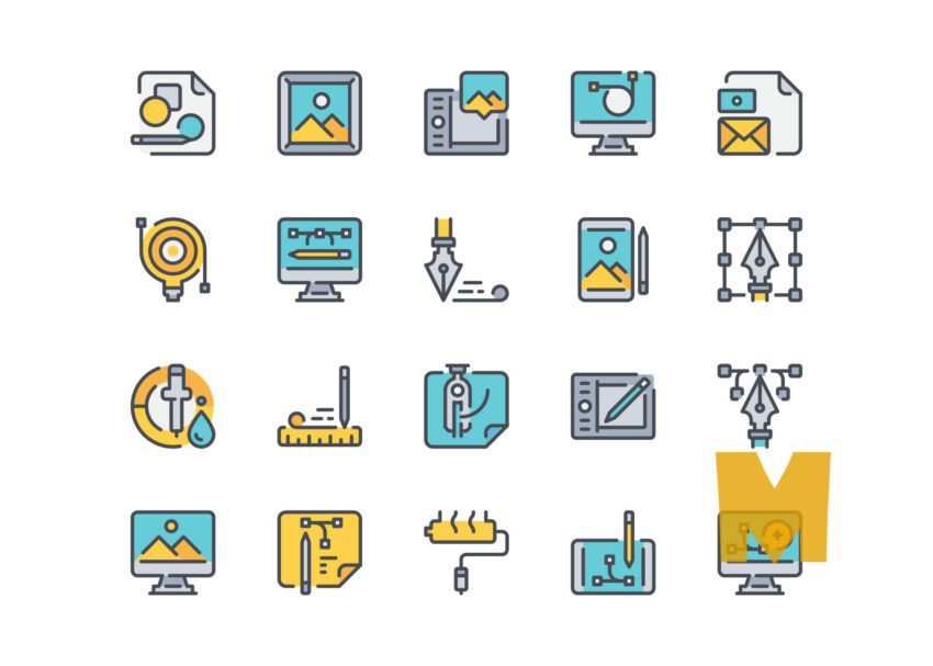 Art work Design Icon Design Set