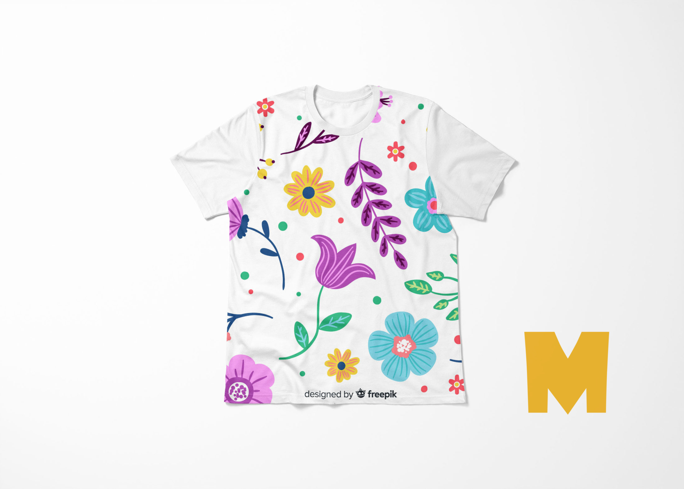 Coloured T-shirt Mockup