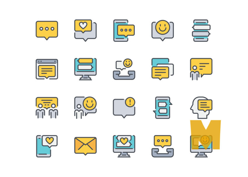 Communication Technology icon Design Set