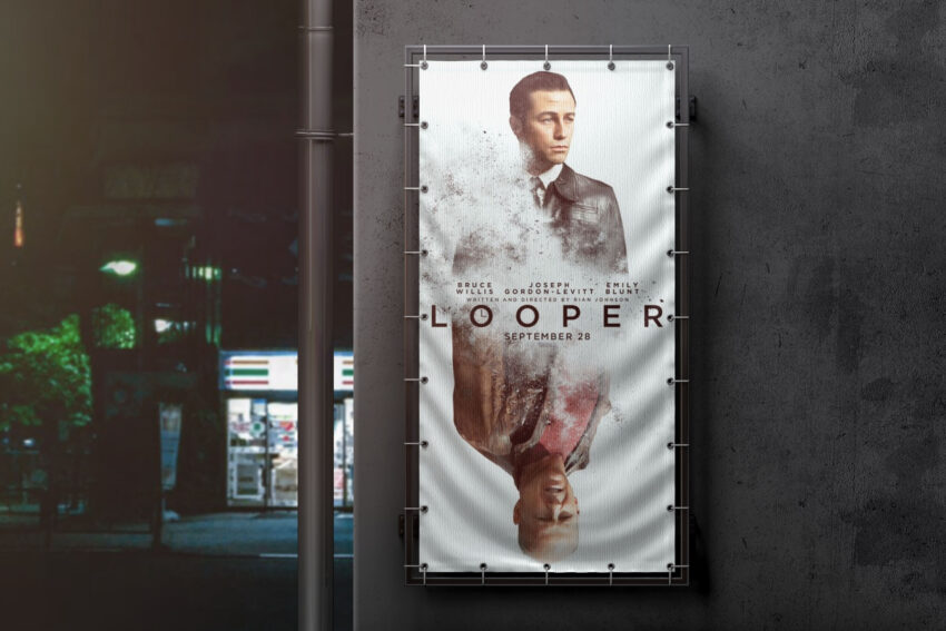 Free Flag Movie Poster Mockup
