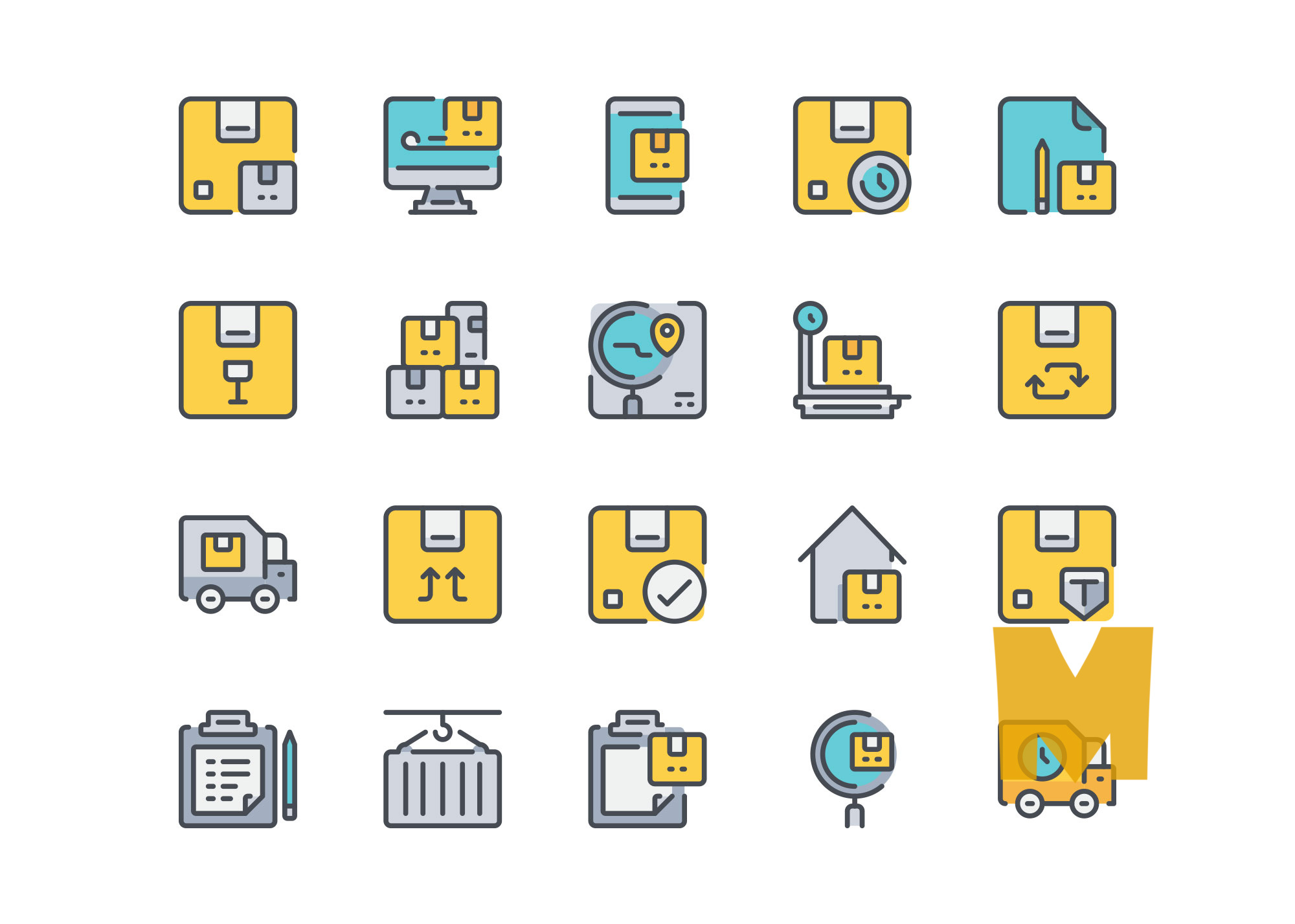Food Delivery icon Design Set