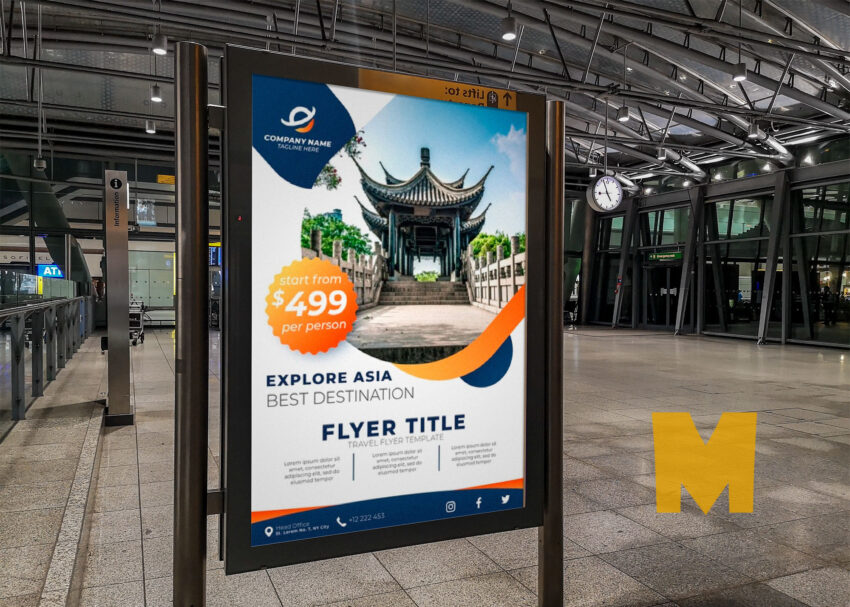 Metro Station Poster Screen Mockup