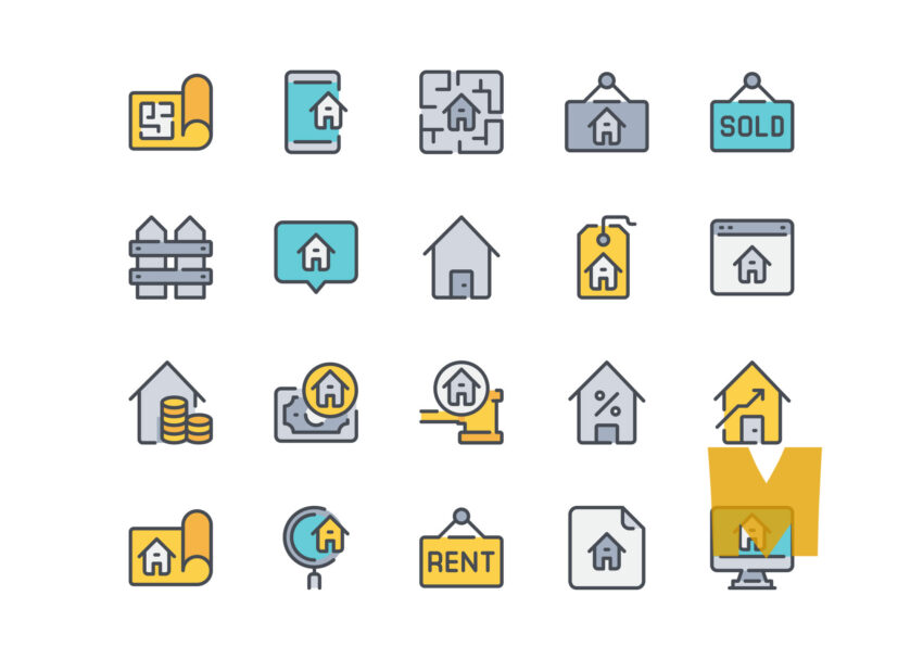 Real Estate Icon Design Set