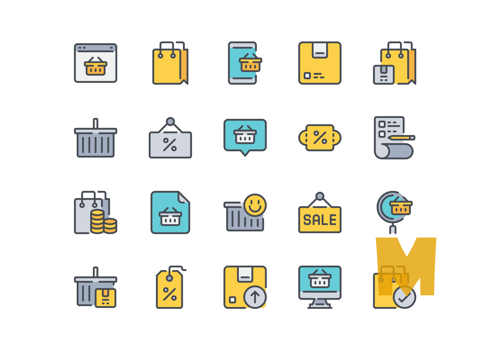 Shopping Icon Design Set