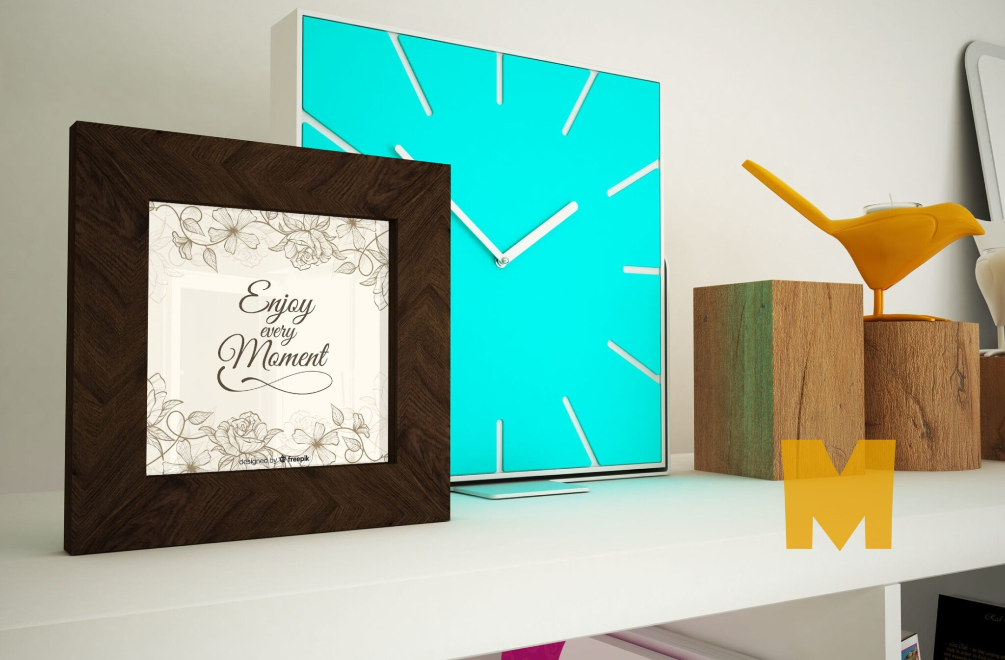 Free Small Frame Poster Mockup