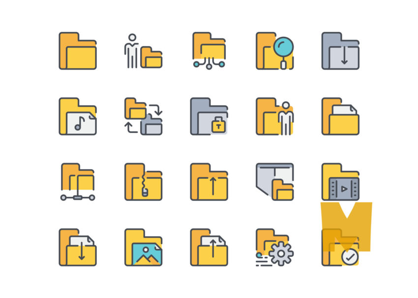 Vector Folder Icon Design Set