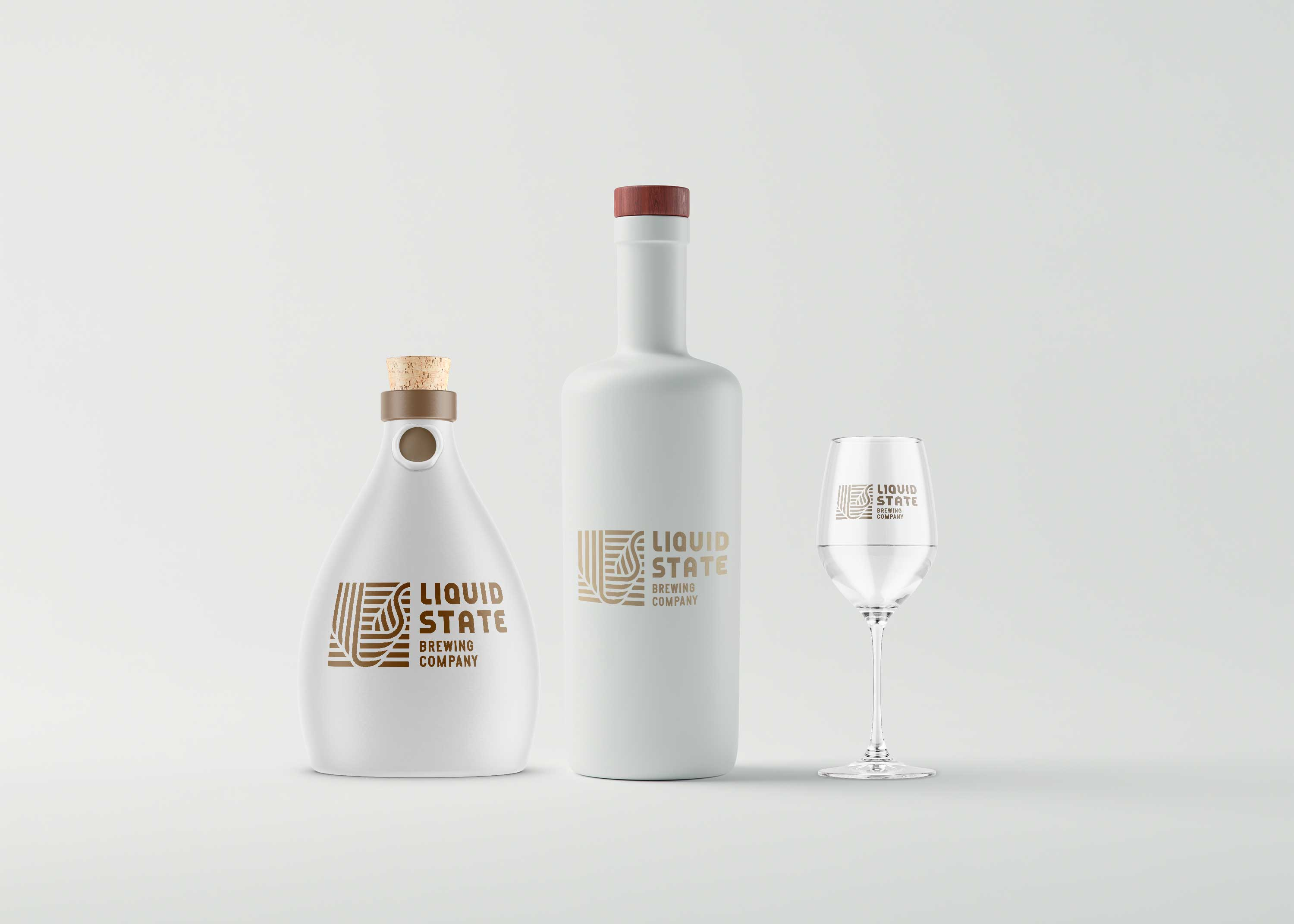 White Bottle Mockup