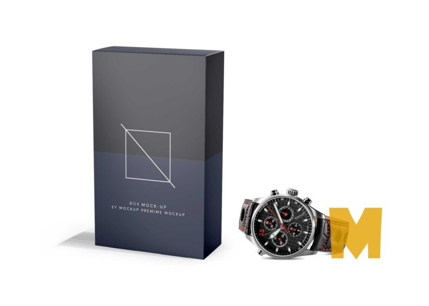 Watch Box Packaging Mockup