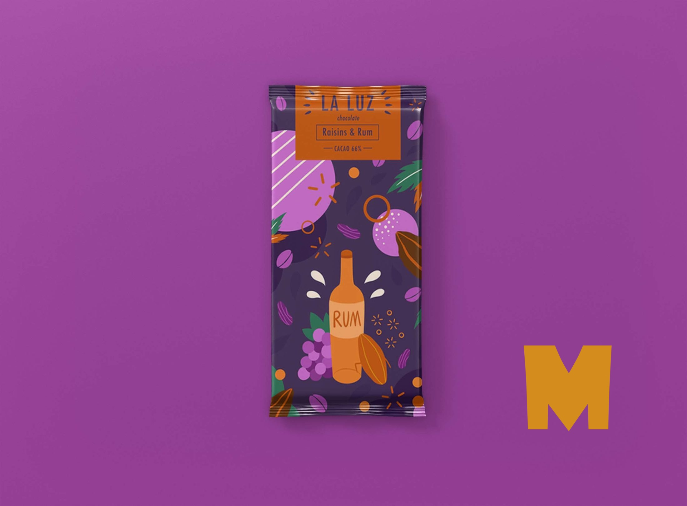 Blueberry Chocolate Packaging Mockup