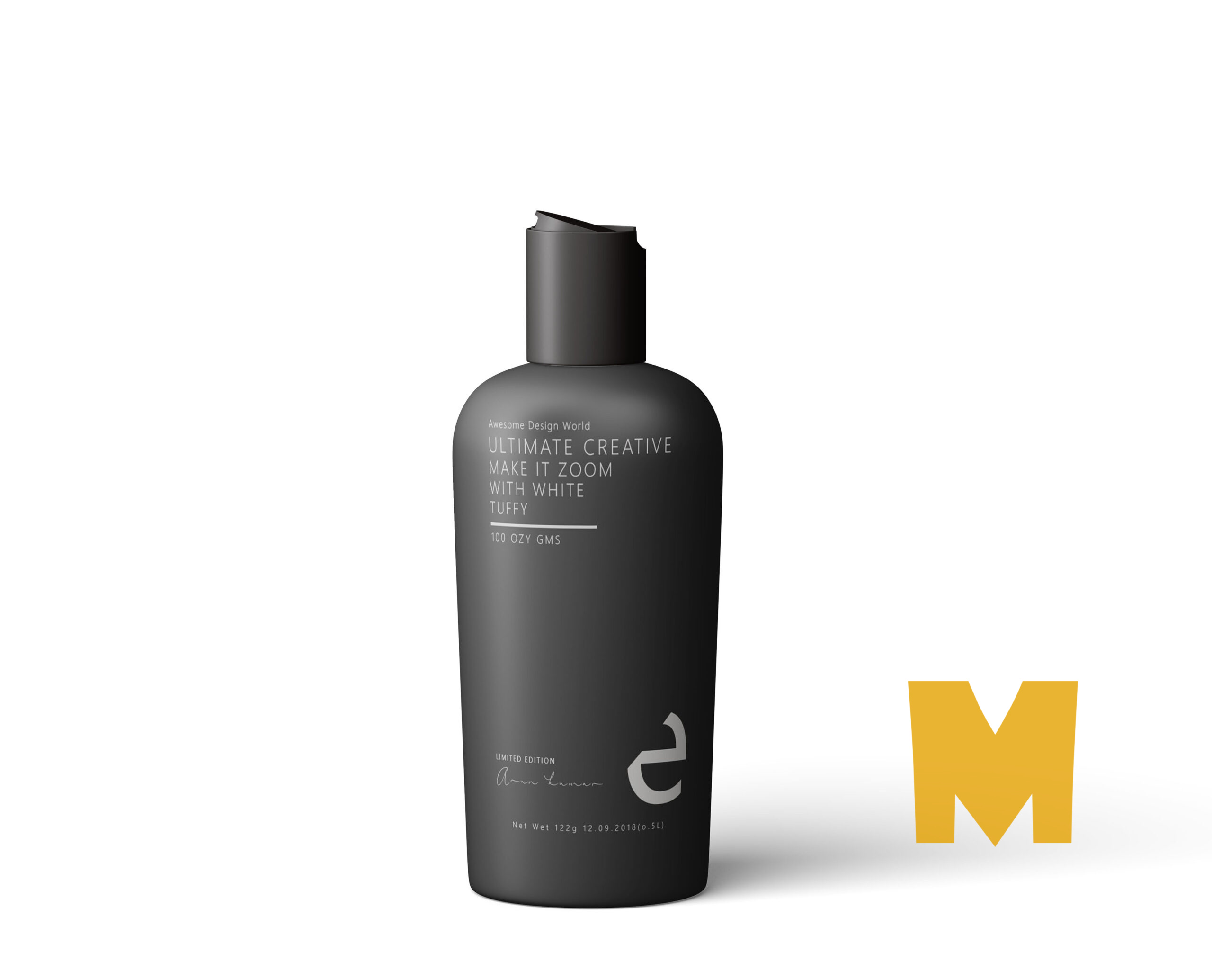 Body Wash Spa Bottle Mockup