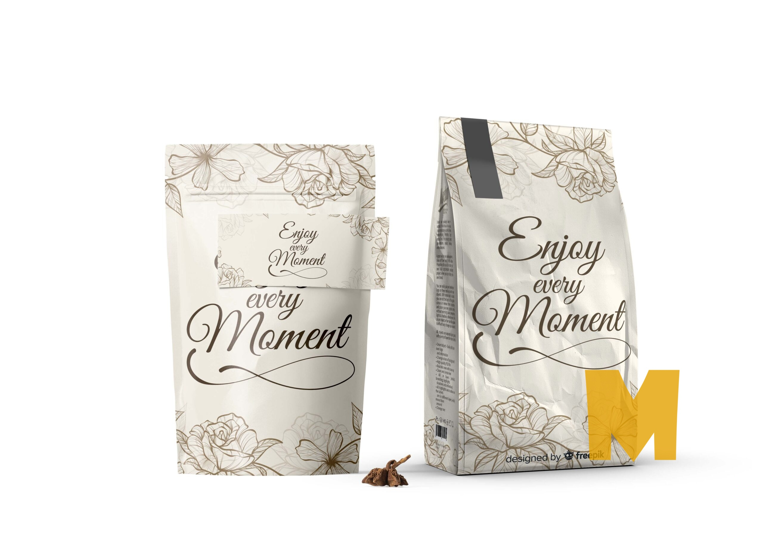 Enjoy Moment Stand Packet Mockup