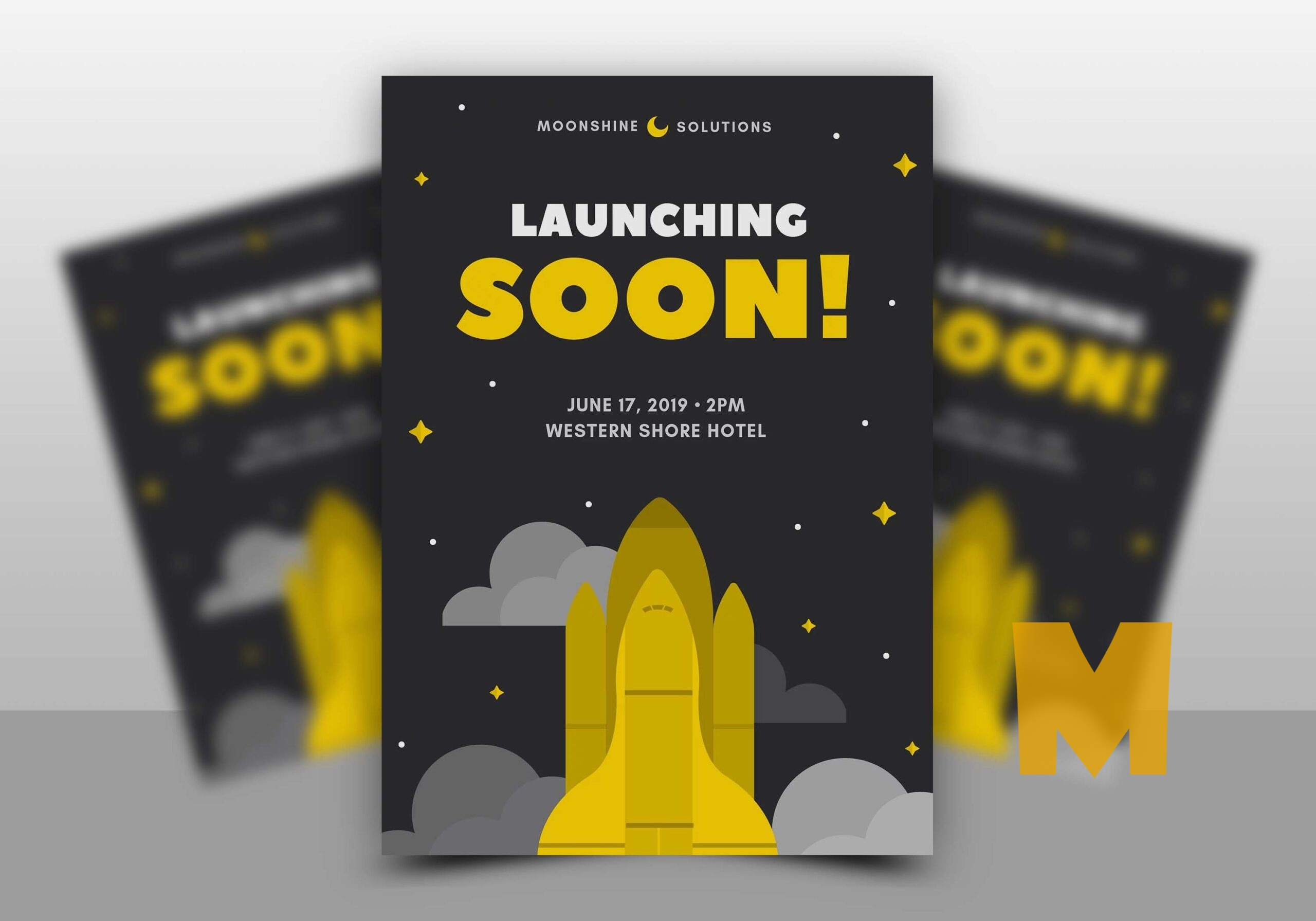 Free Coming Soon Flyer Mockup