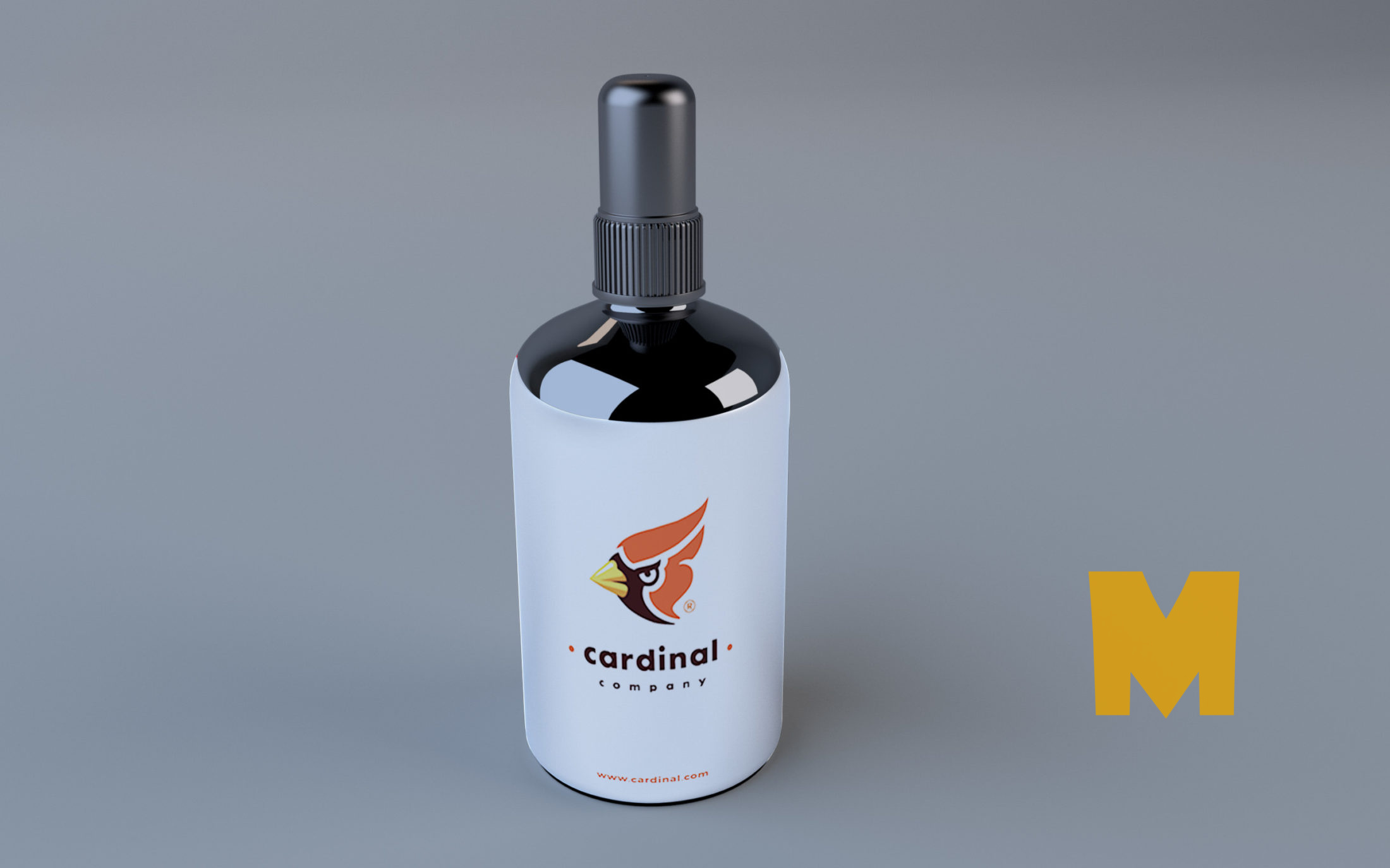 Spray Deo Bottle Mockup