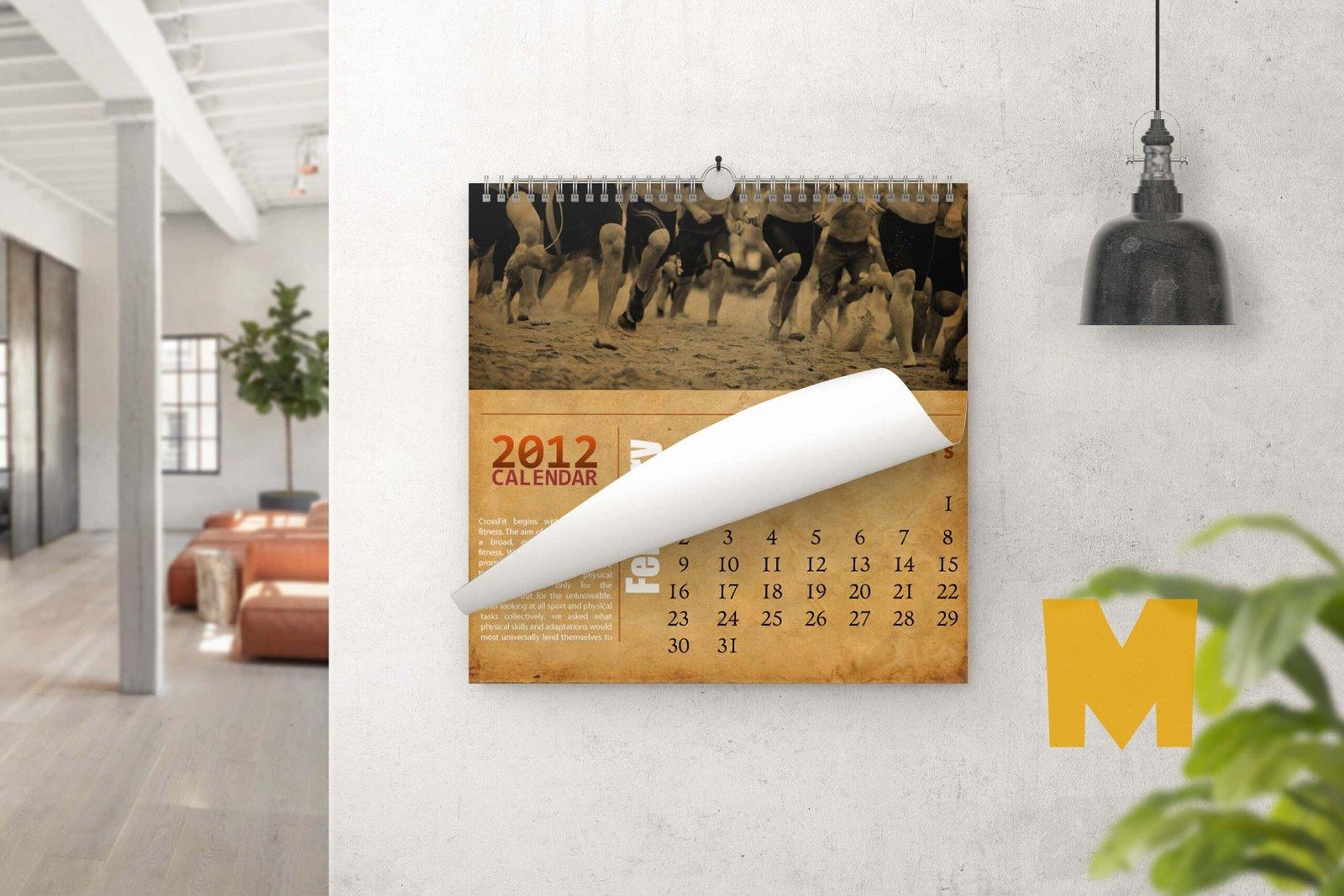 Wild Calendar Mockup