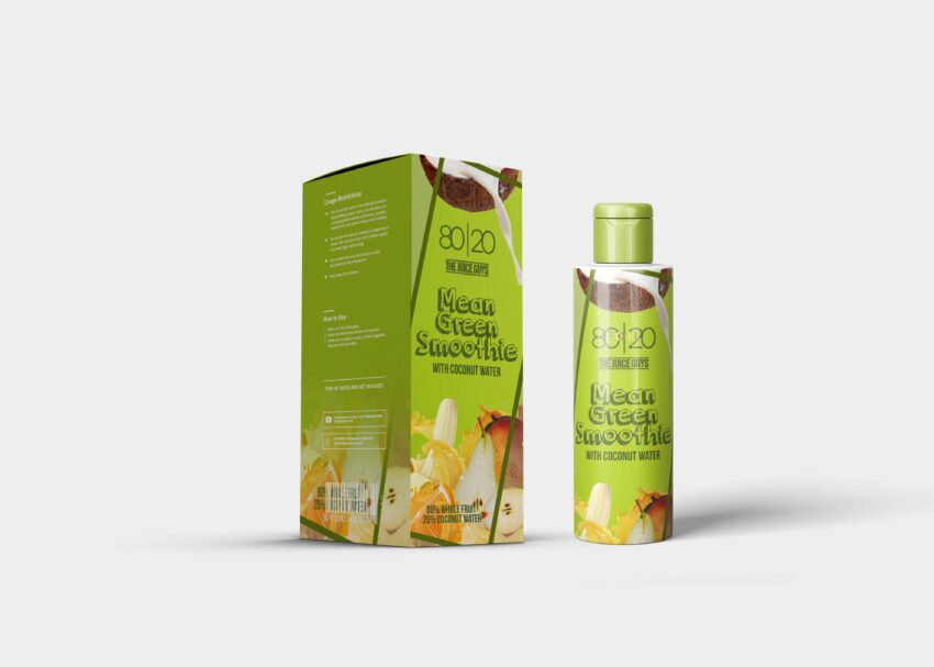Green Oil Packaging Label Mockup