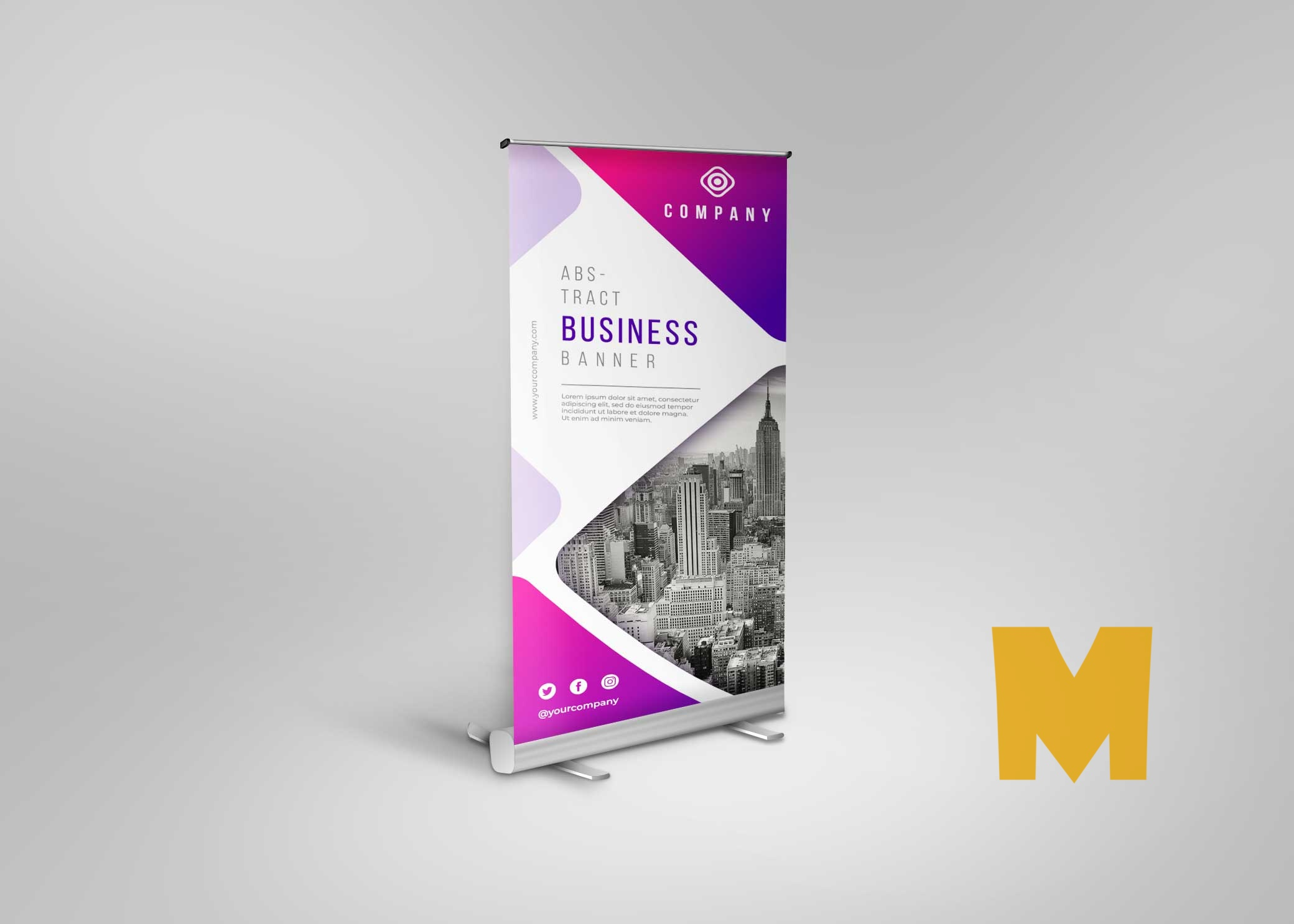Black Roll-up Mockup