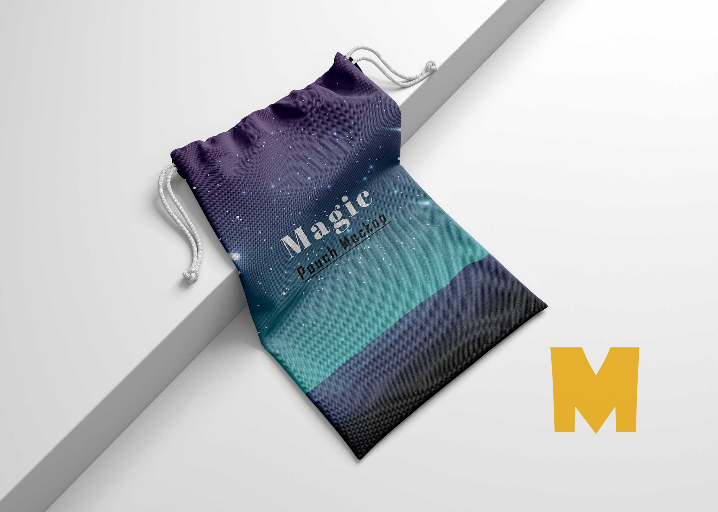 Drawstring Gifts Bag Mockup
