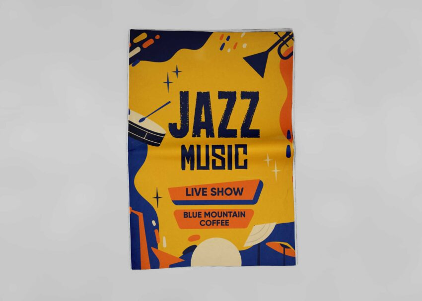 Jazz Music Event Flyer Mockup