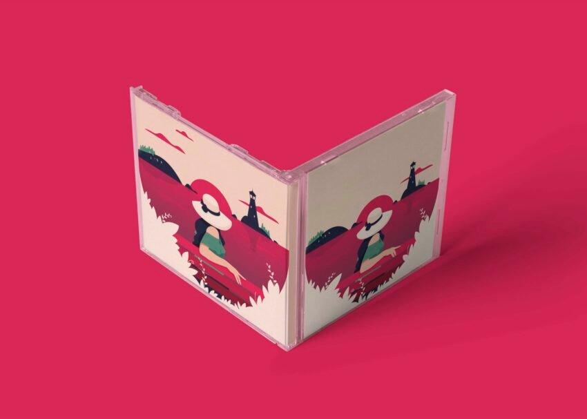 Plastic CD Box Design Mockup