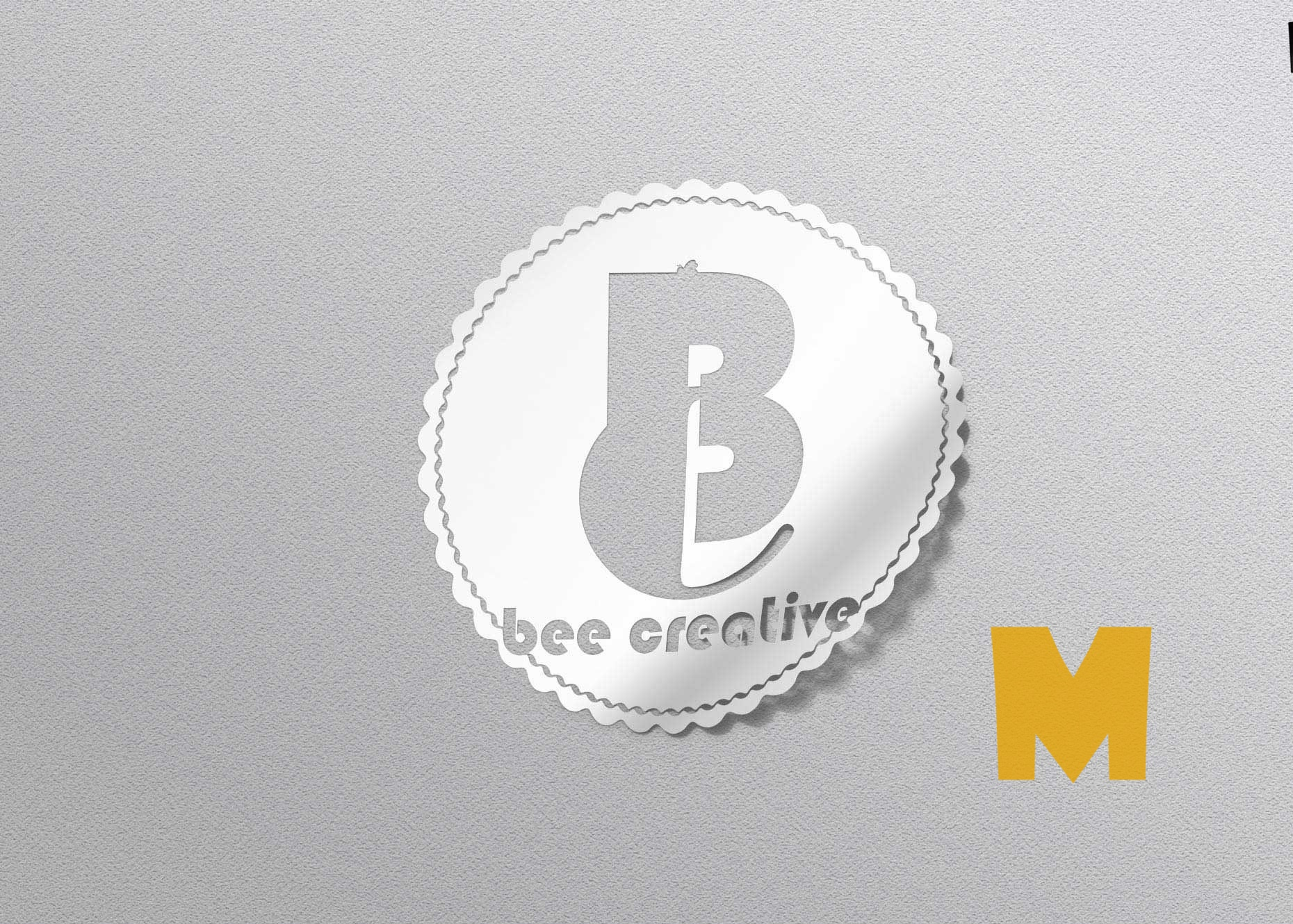 Sticker Logo Mockup