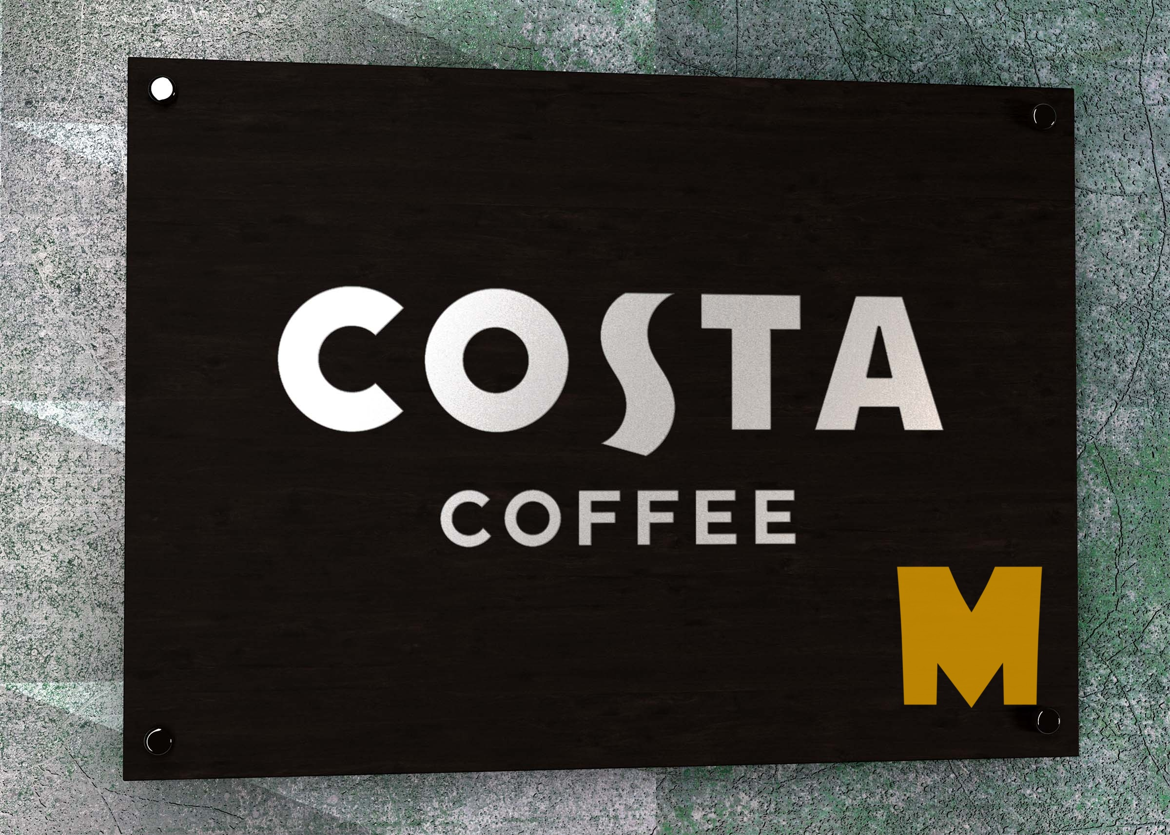 Costa Coffee Store Logo Mockup