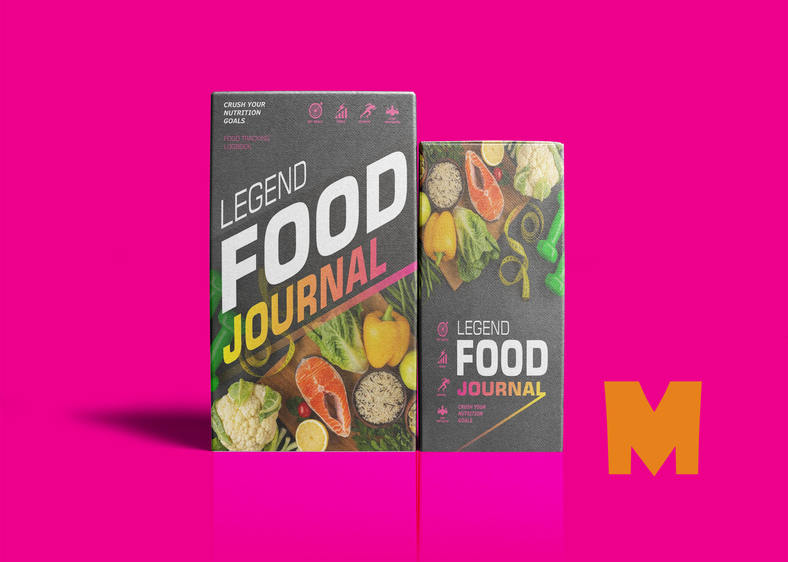 Front Food Journal Packaging Mockup