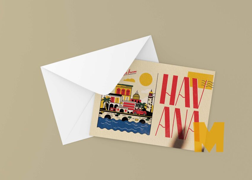 Hawaii Invitation Mockup