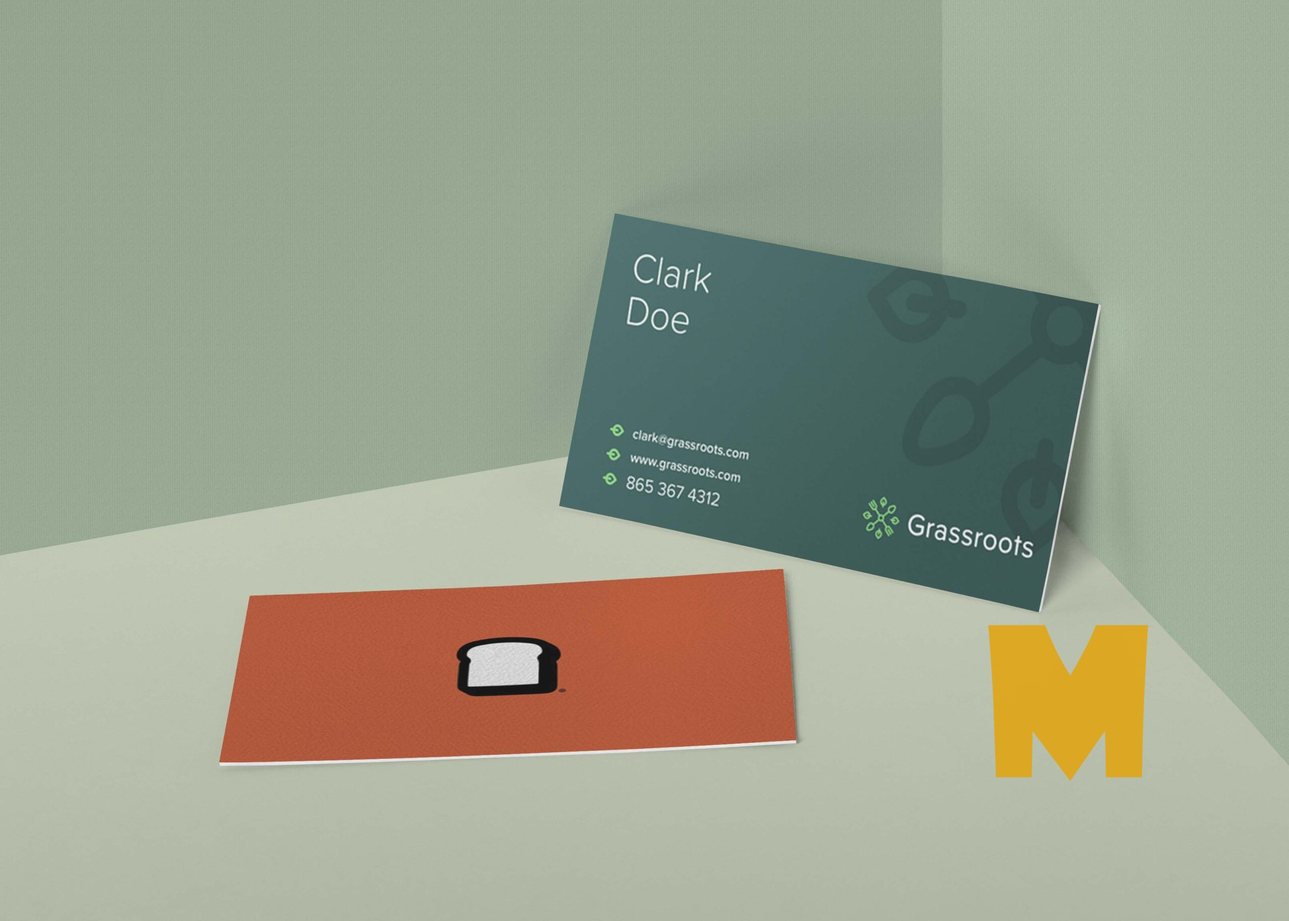 Nick Business Card Mockup