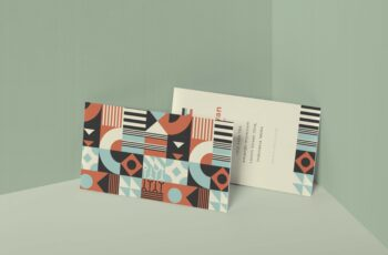 Soft Touch Business Card Mockup