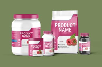Supplement Product Bottle Mock-Up