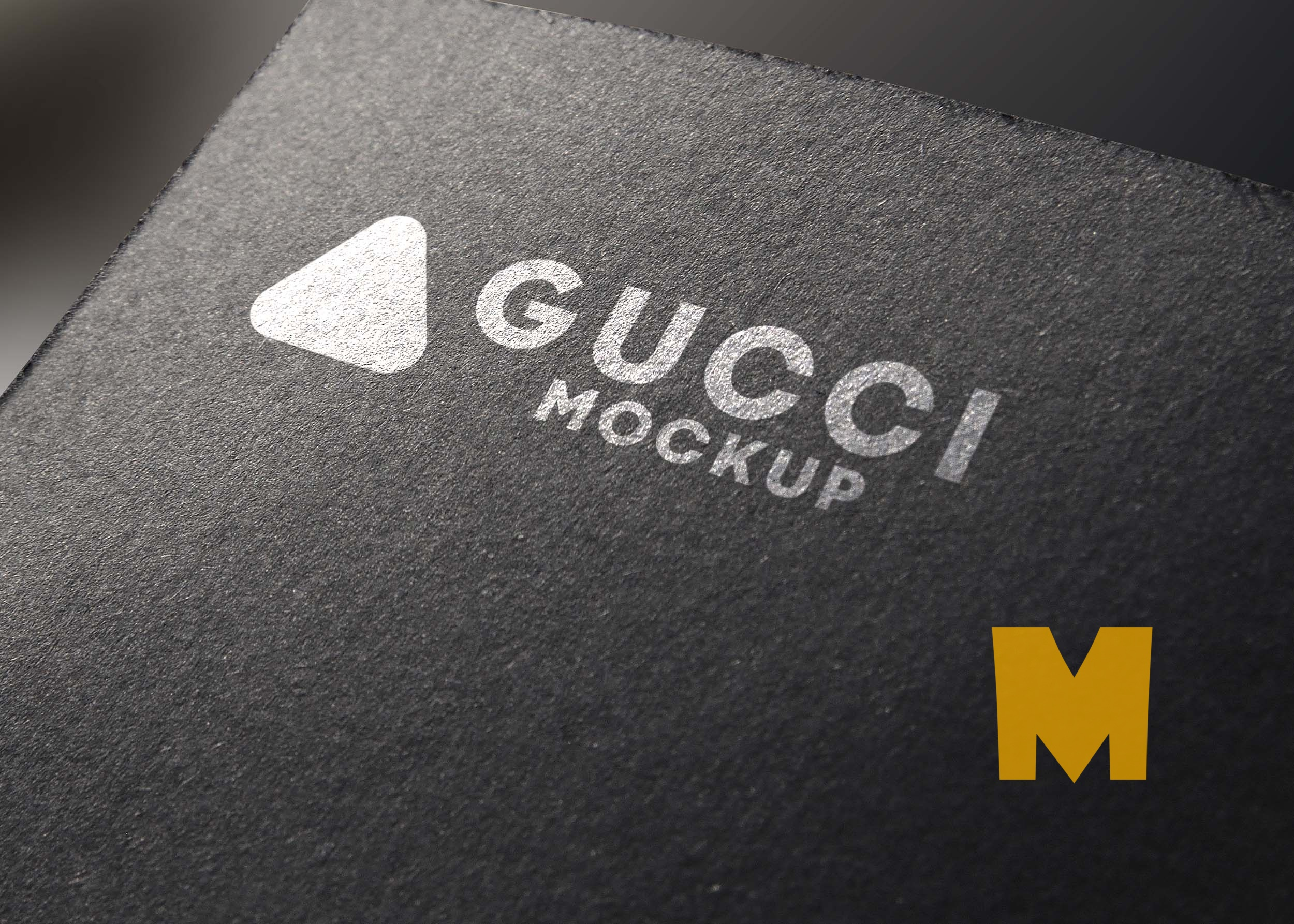 Black Texture Logo Mockup