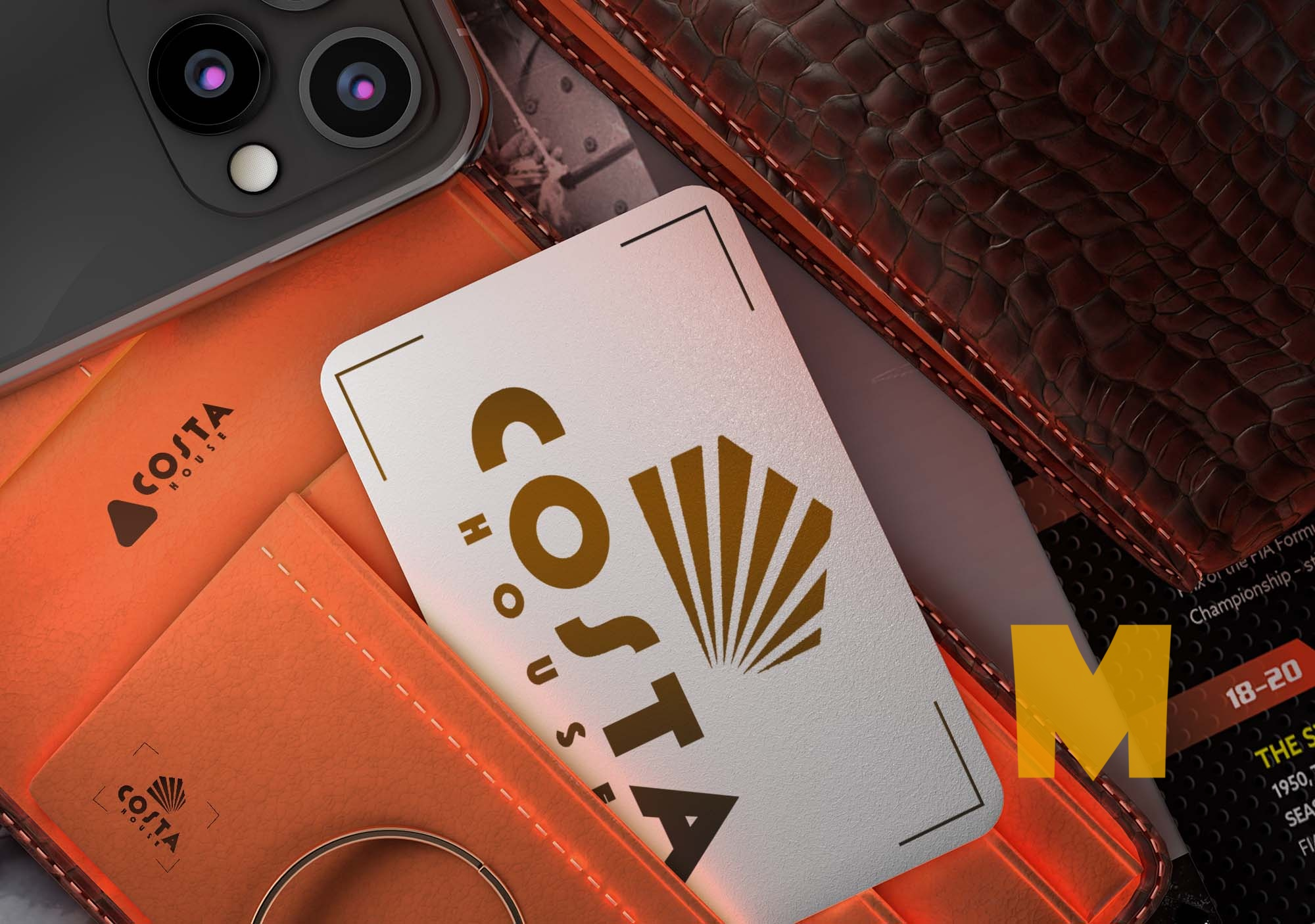 Costa Coffee Card Mockup