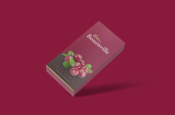 Chocolate Paper Packet Mockup