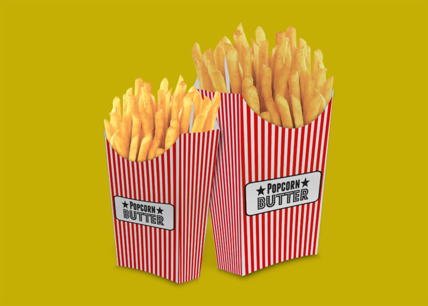Theater Food Packet Mockup