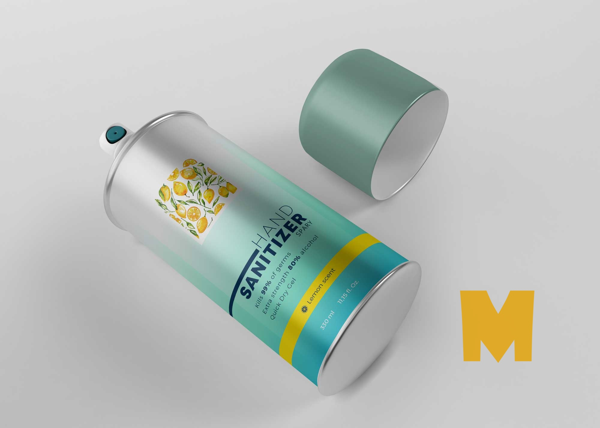 Sanitizer Air Spray Mockup