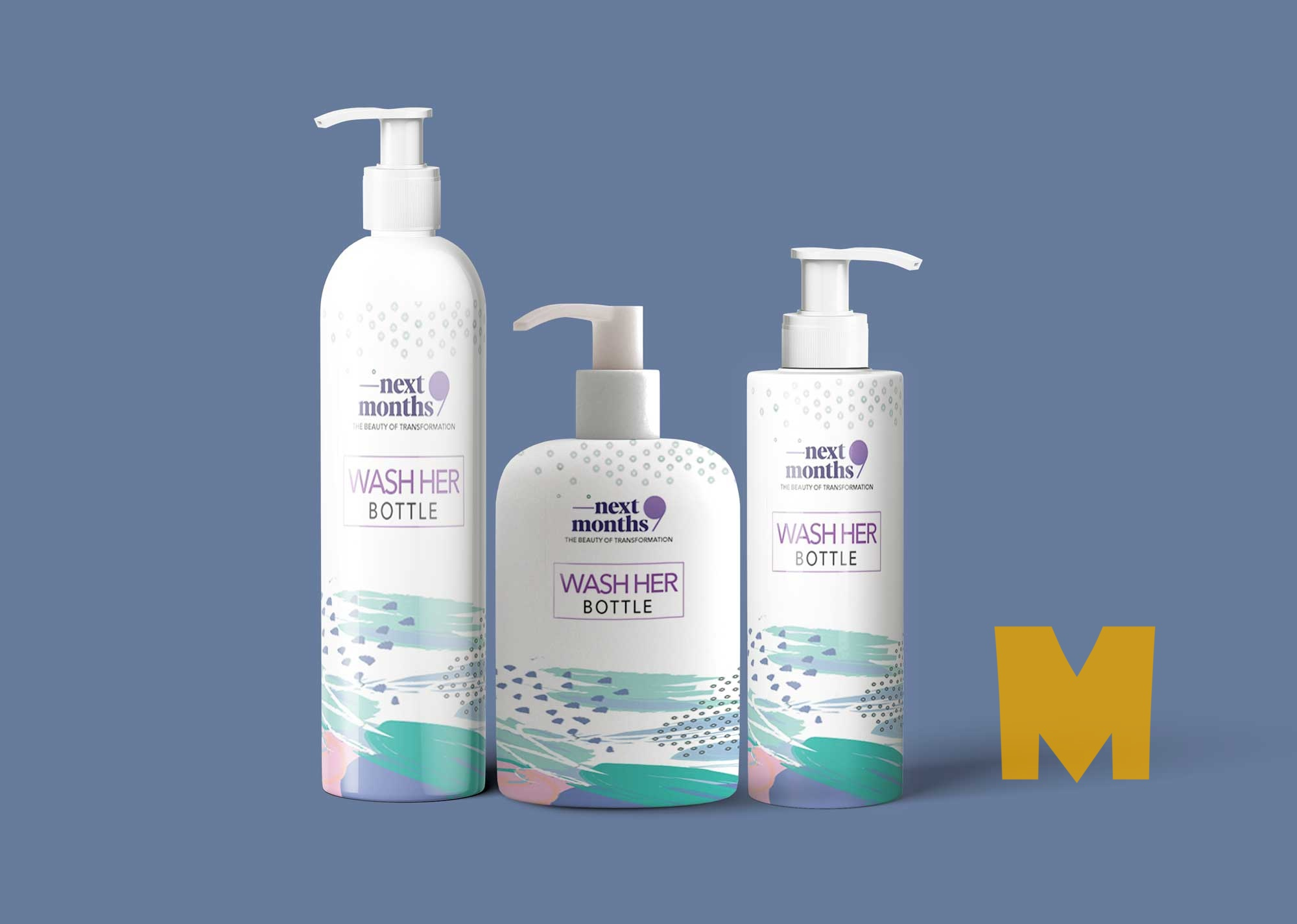 Wash Hair Bottle Packaging Mockup