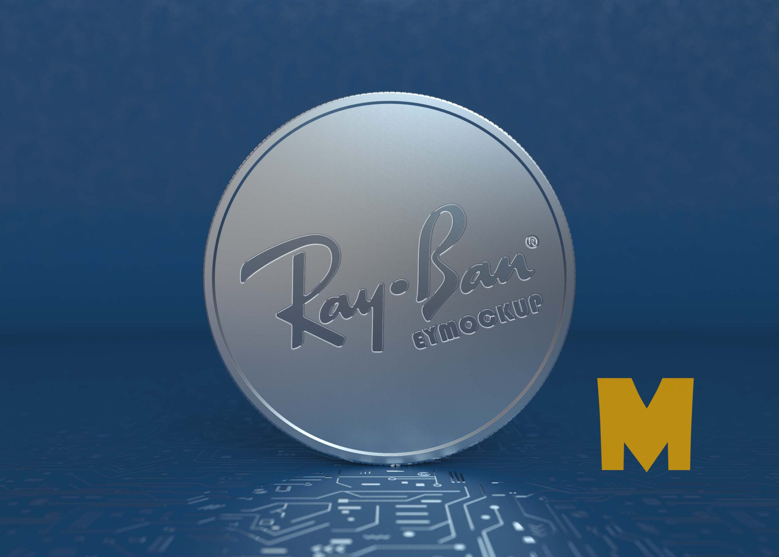Free Cryptocurrency Coin Mockup