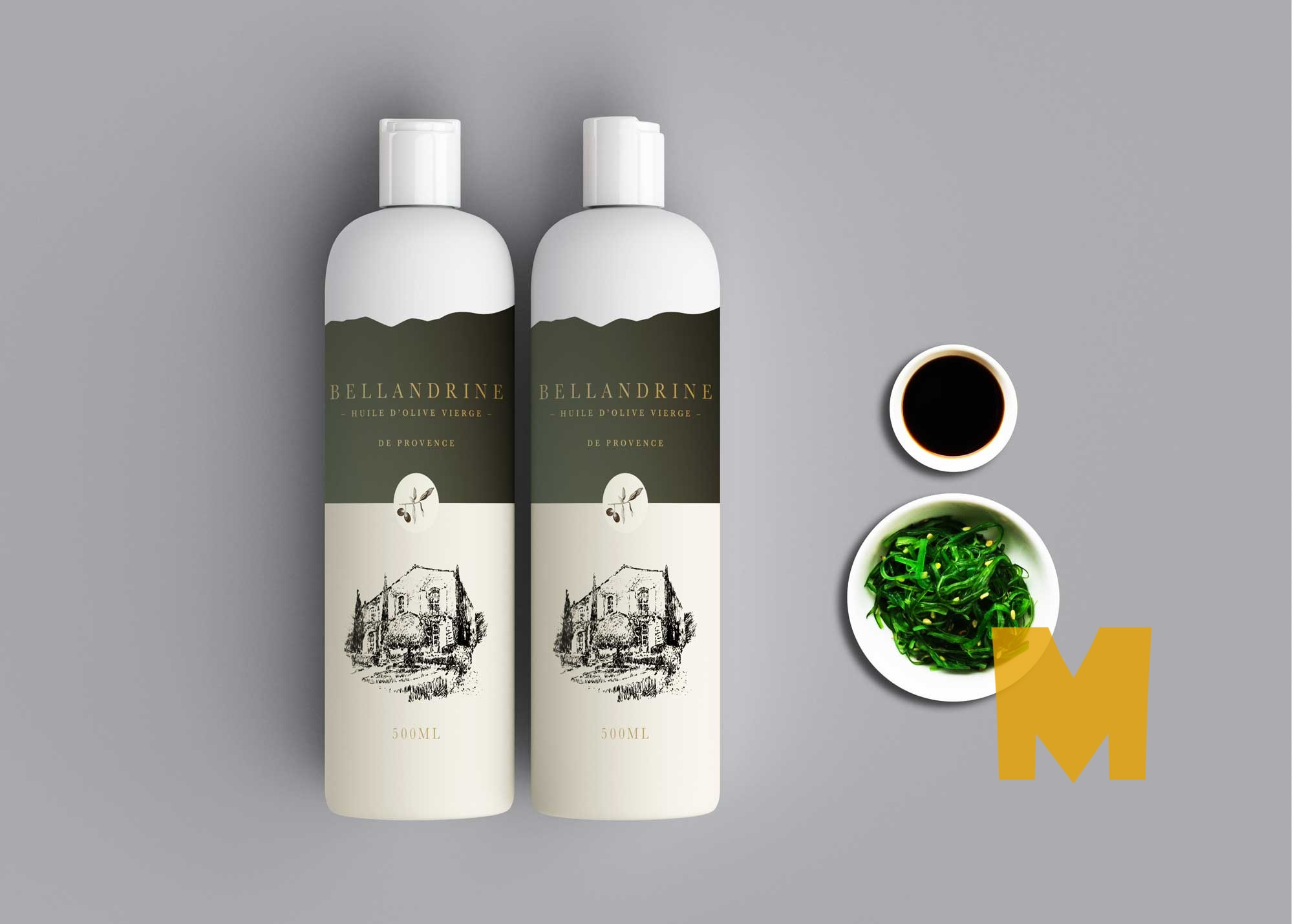 Free Homemade Oil Bottle Mockup