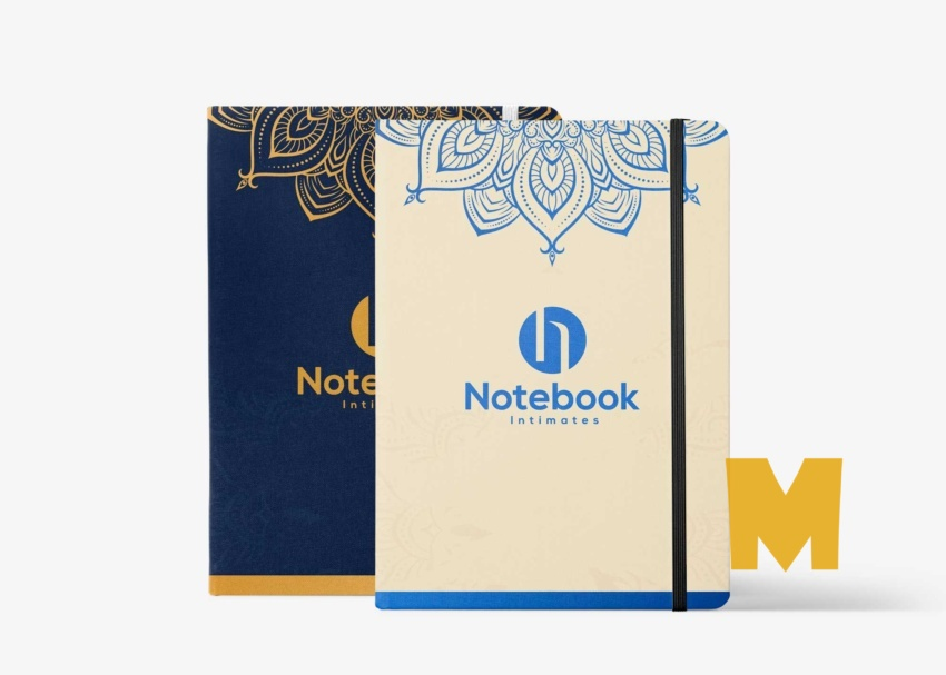 Free Journal Notebook Mockup