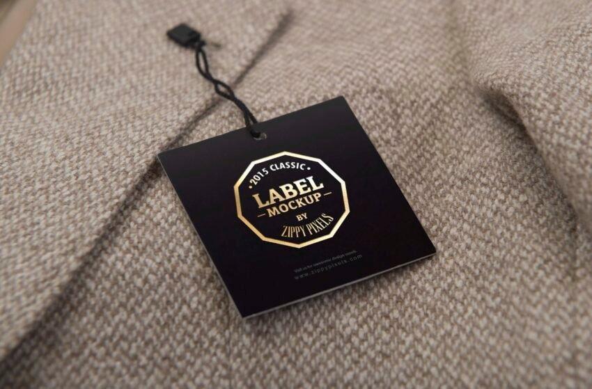 Free Superb Clothing Tag Mockup