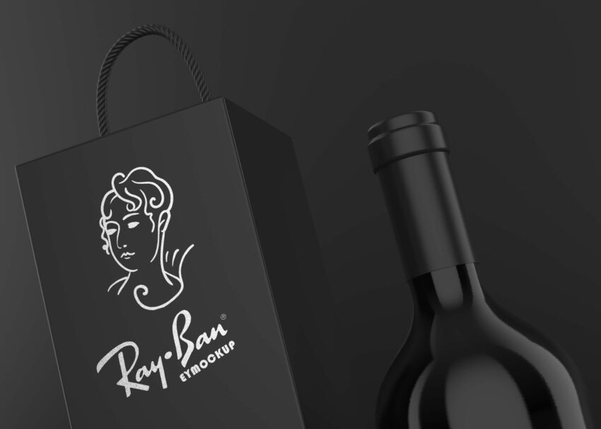 Free Wine Bag Logo Mockup