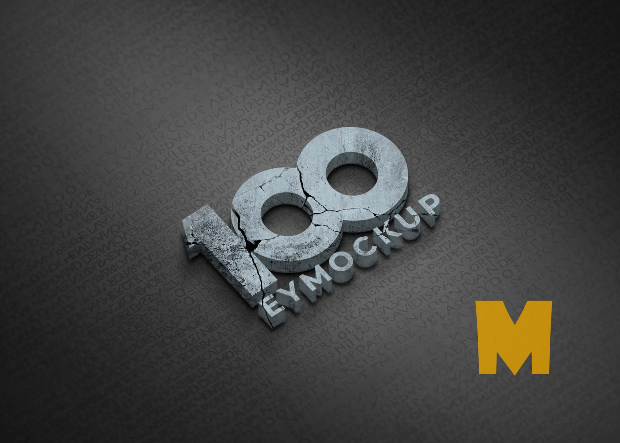 Freebies 3D Logo Mockup