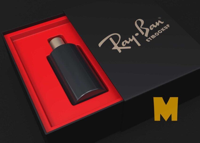 Free Unique Perfume Box Logo Mockup